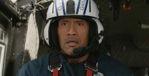 "Dwayne Johnson is the one unbreakable ""rock"" in ""San Andreas""."