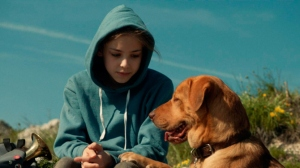 "Lily (Zsofia Psotta) and her dog Hagen have some tough times ahead in ""White God""."