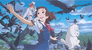 Haru (Anne Hathaway) takes to the sky in The Cat Returns