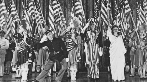 "James Cagney salutes the grand old flag in ""Yankee Doodle Dandy"""