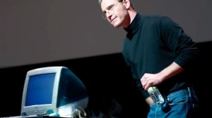 "Michael Fassbender reveals the iMac in ""Steve Jobs"""
